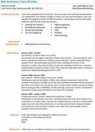 Cv Template For Care Assistant Carer Cv