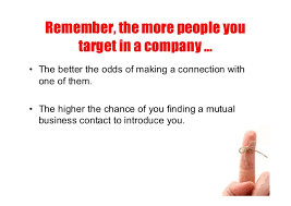 ideas to help you develop a successful sales plan this year  Target up to Five individualswithin each prospect company