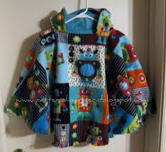 Fleece Poncho Pattern With Hood Fascinating Pattern Shmattern Reversible Car Seat Poncho Tutorial