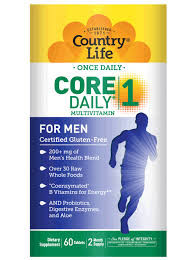 Multivitamin Effectiveness Chart Core Daily 1 For Men Country Life Vitamins