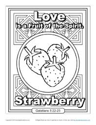 Small Picture Fruit of the Spirit for Kids Love Coloring Page