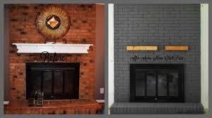 fireplace paint ideasModern Painted Brick Fireplace  Cpmpublishingcom