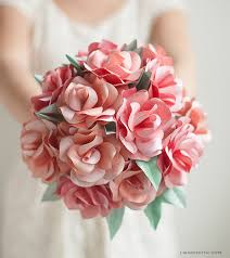 Paper Flower Bouquet Tutorial How To Make A Paper Rose Wedding Bouquet Lia Griffith