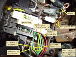 2000 2003 ford taurus remote start w keyless pictorial this is a close up picture of the transponder connector the wires marked as per the idatalink install guide