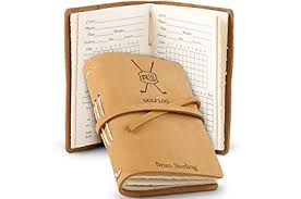 Amazon Com Gifttree Leather Bound Golf Log Journal Personalized