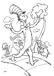 Small Picture Beautiful Dr Seuss Free Printable Coloring Pages Gallery
