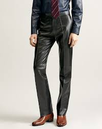 <b>Men's</b> Black Bootcut <b>Leather Trouser</b> | dunhill US Online Store