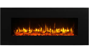 puraflame serena 50 wall mounted linear electric fireplace log set remote control 1500w black