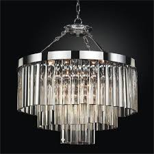 contemporary pendant chandelier with optic crystal wind chime 613dm23sp