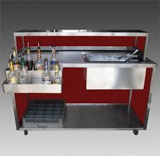 portable beverage bar stainless steel composite panels