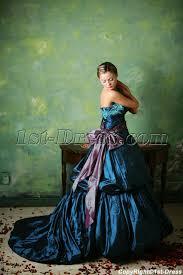 blue 2013 gothic wedding dresses with sash 1st dress com