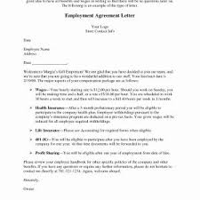 Letter Format Employment Contract New Best S Of New Hire Contract ...