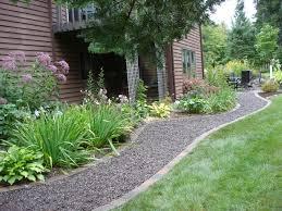 Lawn & Garden:Adventure Garden Pathway Design Idea Fascinating Garden And  Gravel Pathway Idea In
