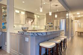 Ceiling Light For Kitchen Astounding Eat In Kitchen Design With Recessed Dull Ceiling Lights