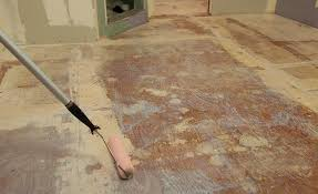 apply primer before installing a lightweight self leveling underlayment over plywood