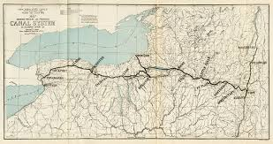 Map showing Present and Proposed Eerie Canal System   Erie Canal ...