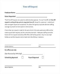 Paid Time Off Form Template Printable Request Off Forms Download Them Or Print