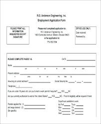 Free Printable Order Form Templates Beauteous Job Application Template Free Printable Employment App Documentation