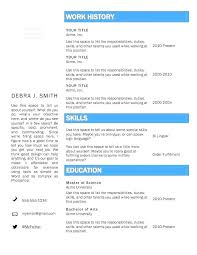 Microsoft Office Resume Templates Simple Word Resume Template Two Column Ms Office Templates Free Download