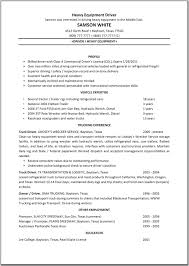 Heavy Equipment Truck Driver Resume Sample Vinodomia