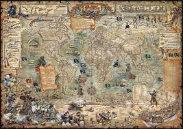 large view of the age of pirates map poster by rayworld co bella
