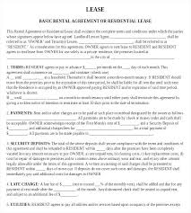 Generic Residential Lease Agreement Best Free Lease Template Residential Tenancy Agreement Condo Word