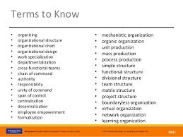 Ch 10 Basic Organization Design