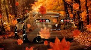 toyota supra jdm crystal nature autumn car