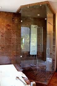 custom made frameless steam shower enclosure