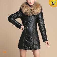 black women leather coat cw630358 cwmalls com