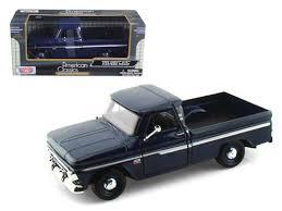 1966 Chevy C-10 Fleetside Pickup Truck Dark Blue 1/24 Scale Diecast ...