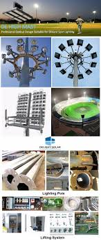 High Mast Lighting Manufacturers Octagonal Hot Dip Galvanized Pole Airport Seaport Led High