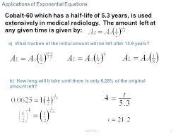 half life calculator math formula mathematics exponential decay growth and