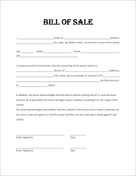 Florida Auto Bill Of Sale Form Free Car Sale Bill Of Template Private Ontario