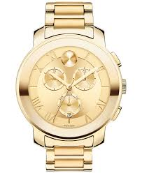 movado women s swiss chronograph bold gold ion plated stainless movado women s swiss chronograph bold gold ion plated stainless steel bracelet watch 40mm 3600209