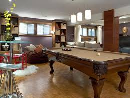 Furniture Admirable Basement Pool Table With Wooden Frame And