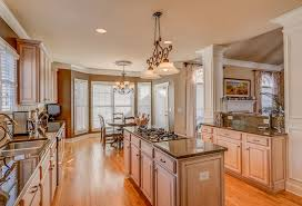 this gourmet eat in kitchen is complimented with windows cabinets and plenty of