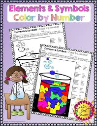 Chemical Elements - Color by Symbols #2 | Symbols, Activities and ...