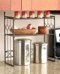 countertop shelves bronze 2 tier shelf kitchen counter space saver cabinet e rack pertaining to shelves countertop shelves