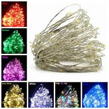 Indoor Christmas Lights White Wire Fairy Lights 1 2 5 10m Copper Wire Led String Lights Holiday Lighting For Christmas Garland Wedding Party Indoor Decoration