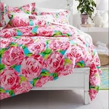 50% off Lilly Pulitzer Other - Lilly Pulitzer full/queen duvet ... & Lilly Pulitzer full/queen duvet cover + 1 sham Adamdwight.com