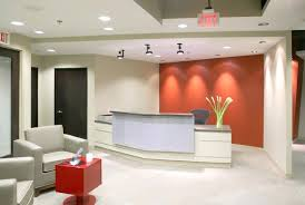 wall color for office. Reception Area Ideas Sandy Coral Wall Color With Contemporary  Desk For Elegant Office M