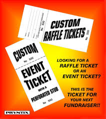 Raffle Tickets Printing 1000 Raffle Tickets Custom Printed Numbered Perforated Card