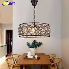 fumat loft industrial vintage crystal light nordic iron k9 crystal pendant lights restaurant bar re living