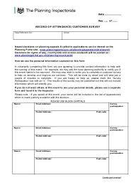 Attendance Sheet Pdf Planning Portal
