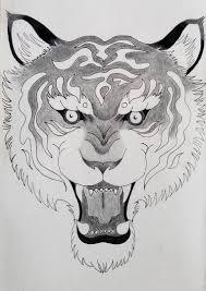 Sketch Of Tiger Mariah Kohl Design