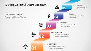 Step Chart In Powerpoint 5 Step Colorful Stairs Diagram For Powerpoint