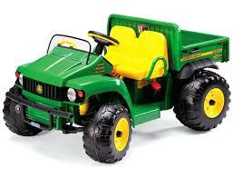 peg perego john deere gator volt ground force tractor with trailer used peg perego john deere