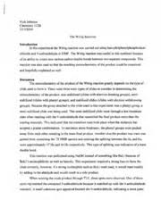 Example Of A Lab Report Example Lab Report Nick Johnson Chemistry L 123 3 1 3f2009 The