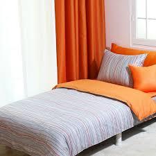 820tc modern gray orange stripe queen duvet cover set by bhdecor